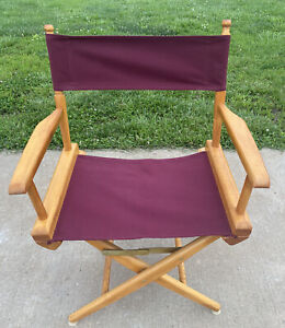 Telescope Casual World Famous Dining Director Chair Burgundy Canvas Wooden
