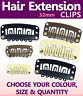Hair Extension Snap Clips Weft Silicon Grip Human Synthetic Hair Weft 32mm