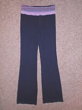 LULULEMON Pink/Black Compression YOGA PANTS Athletic Gym Bottoms Size Women's 6