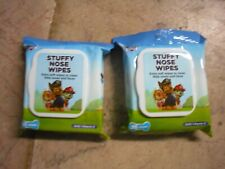 New ! 2 X Paw Patrol Stuffy Nose Wipes Vitamin E Extra Soft Wipes to Clean