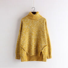 Damen Langarm Strickshirt Sweater Tops Locker Cardigan Pullovers Pulli Oversized
