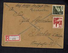 1941 Neu Sandoz Poland Germany Cover to Dachau Dienstpost Altbahn
