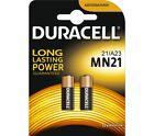 2 Pcs Duracell A23 23A, A23BP, GP23, MN21, 21/23 12V Alkaline Battery