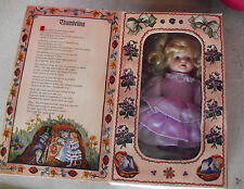 """1996 Marie Osmond Porcelain Cloth Thumbelina StoryBook Character Doll 7 1/2"""""""