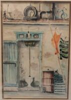 CUBAN MASTER GAINZA WATERCOLOR PAINTING SIGNED '82