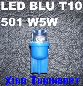 Lampadine a LED BLU T10 INVERTITI W5W Luci 180° BLUE cono invertito 12V per auto