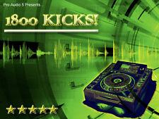 OVER 1800 KICKS CD - EDM House Electro -  KICK DRUM SAMPLES - FREE UK POSTAGE!