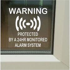 6 X protegido por un control de alarma sistema stickers-24hr Shop, seguridad del hogar signos