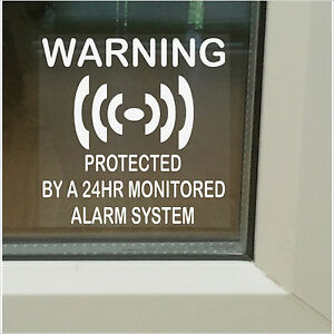 6 x PROTECTED by a Monitored Alarm System Stickers-24hr Shop,Home Security Signs