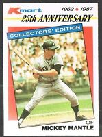 1987 Topps Kmart Stars Of The Decades #5 Mickey Mantle Baseball Card