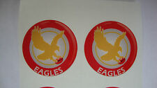 "12   EAGLE  CROWN GREEN BOWLS STICKERS  1"" LAWN BOWLS  GREEN INDOOR BOWLS"