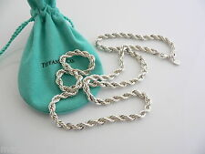Tiffany & Co Silver Twisted Rope Cable Necklace Chain 24 in Rare Excellent
