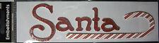 NEW 6 pc  SANTA NOEL  Christmas Santa Claus Candy Cane 3D Embellishments MAMBI
