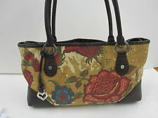 Brighton Matisse Purse FLoral D460780 Red Swirly Interior - USED A COUPLE TIMES