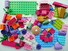 LEGO 100 pieces PINK PURPLE GIRLS FRIENDS BRAND NEW flowers bricks slope arch *