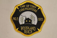 Canadian Woodland Beach Park Tiny Township No.5 Firefighters Fire Patch Obsolete