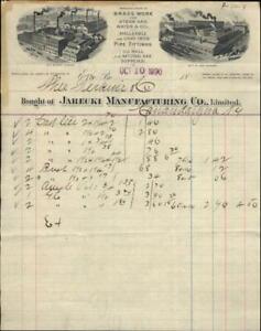 1890 Erie Pennsylvania (PA) Jarecki Manufacturing Theo Perkins