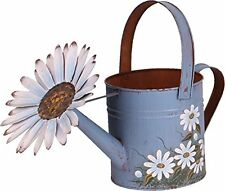 Metal Antique Finish Hand Painted Spring Decorative Watering Can Garden Planter