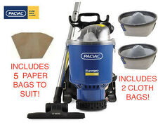 Pacvac Superpro 700 Back Pack Vacuum Cleaner with 2x Cloth and 5x paper bags