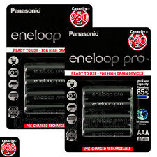 8 x Panasonic Eneloop PRO AAA batteries 930mAh Rechargeable High Ni-MH Accu HR03