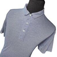 Linksoul Golf Advisor Blue White Striped Tempus Figit Polo Shirt Mens Large L