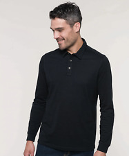 Kariban Jersey Knit Long Sleeve Polo Shirt