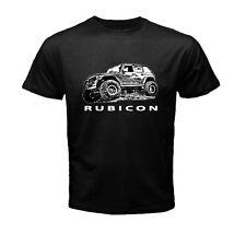 RUBICON Jeep Wrangler T Shirt Car Logo Black t-shirt size S, M, L, XL, 2XL
