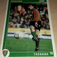 CARD SCORE 1993 TERNANA CONSONNI CALCIO FOOTBALL SOCCER ALBUM
