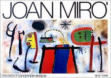 Joan MIRO Vintage New York Guggenheim Museum Poster 24 x 33-3/4