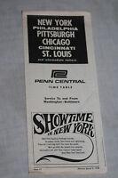 Vintage Penn Central Railroad Washington-Baltimore Timetable April 28, 1968