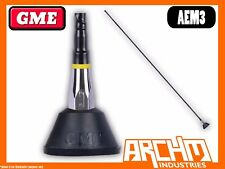 GME AEM3 1000 MM BLACK FIBREGLASS BASE LEAD & PLUG AM/FM ANTENNA