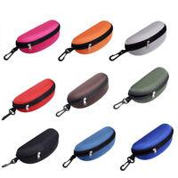Zipper Hard Eye Glass Case Box Sunglass Protect Travel Fashion with Belt Charm