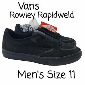 Vans Rowley Rapidweld Black Blackout Sneaker Men's Size 11 New Extra Laces