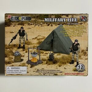 Click N' Play Military Life Camping Set 12 Piece with Accessories Elite Power