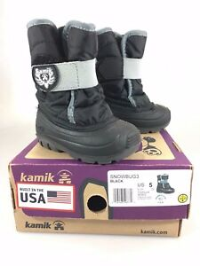 Kamik Snowbug3 Toddler 5T Black Winter Snow Boots NEW with Box