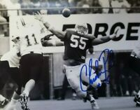 NEBRASKA FOOTBALL HUSKER CHRISTIAN PETER #55 SIGNED PHOTO ACTION PICTURE GIANTS