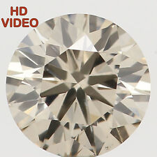 4.50 MM 0.32 Ct Natural Loose Diamond Cut Round Shape Brown Color VS1 N5402
