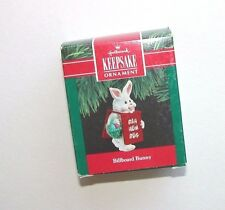 NEW Hallmark Keepsake Ornament Christmas Billboard Bunny 1990