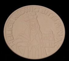 Meissen Medaille Heilige Hedwig bitte für uns Ø ca. 62mm Berlin 1973