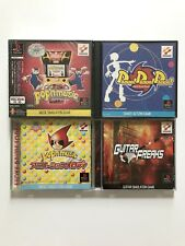 Lot of 4 Pop`n Music Guitar Freaks Playstation Japan Import PS1 FACTORY SEALED