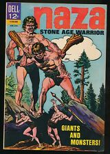 NAZA STONE AGE WARRIOR No. 6 1965 Dell Cave Man Comic Book GIANTS 6.0 FN