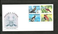 BRITISH SIERRA LEONE - BIRDS FDC 1984, VF