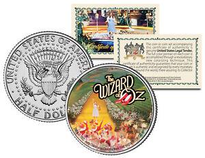 WIZARD OF OZ Yellow Brick Road JFK  Kennedy Half Dollar US Coin *Licensed*
