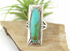 Vtg Sterling Silver Bell Trading Post Fred Harvey Turquoise Ring sz 6