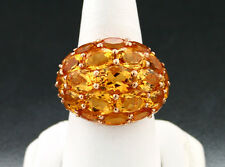 citrin-brillant-ring 11,30 quilates Madeira Citrino 750-roségold VALOR