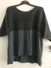 Join Clothes Chenille & Jersey Top Size Medium New Pencil Grey