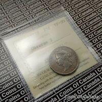 1872 H Canada 25 Cents Silver Quarter - ICCS VF-30 Obverse 2  #coinsofcanada