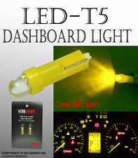 10 pcs Cluster T5 LED Lights Yellow Lamps Fit Ash Tray Glove Box Dash Boards A79