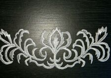 Silver metallic embroidery patch lace applique motif irish dance costume