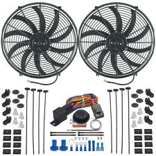 "DUAL 16"" INCH ELECTRIC RADIATOR FAN-S ADJUSTABLE THERMOSTAT FAN CONTROLLER KIT"